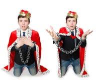 国王商人的概念与冠的 库存图片