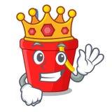 国王在串形状吉祥人的海滩桶 皇族释放例证
