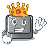 国王在桌上的动画片alt按钮 库存例证