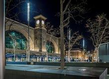 国王夜横渡驻地,伦敦 免版税图库摄影