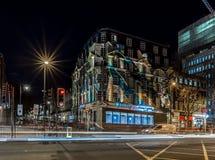 国王夜横渡驻地,伦敦 免版税库存图片