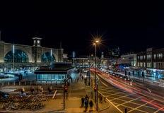 国王夜横渡驻地,伦敦 库存照片