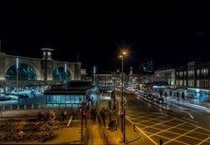 国王夜横渡驻地,伦敦 库存图片