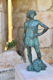 年轻国王大卫的雕象 免版税库存照片