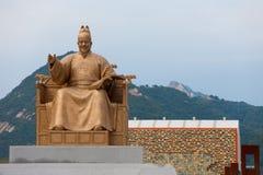 国王山sejong雕象 免版税库存照片