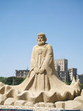 国王沙子雕塑 免版税库存图片