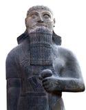 国王沙尔马那塞尔三世的雕象在伊斯坦布尔,土耳其 免版税库存照片