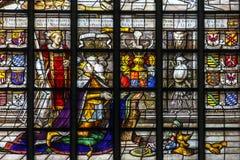 国王的加冕的彩色玻璃 库存图片