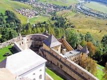 国王的历史的被加强的城堡 免版税库存图片