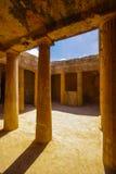 国王的古墓在塞浦路斯 免版税图库摄影