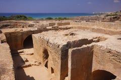 国王的古墓在塞浦路斯 库存图片