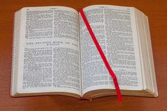 国王的圣经第二书 免版税库存照片
