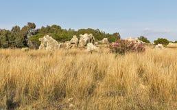 国王的坟茔在塞浦路斯的帕福斯 图库摄影