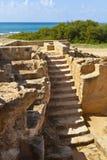 国王的坟茔在帕福斯,塞浦路斯。 库存图片
