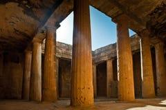 国王的坟茔在帕福斯,塞浦路斯 免版税库存图片