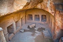国王的坟茔在帕福斯,塞浦路斯 库存照片