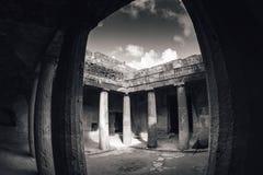 国王的坟茔黑白射击  帕福斯,塞浦路斯 免版税库存图片