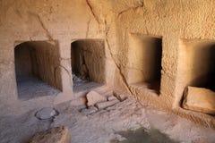 国王的坟茔,帕福斯,塞浦路斯 库存图片