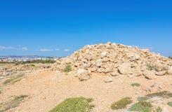 国王的坟茔,帕福斯,塞浦路斯 免版税库存图片