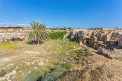 国王的坟茔,帕福斯,塞浦路斯 免版税图库摄影