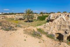 国王的坟茔,帕福斯,塞浦路斯 图库摄影