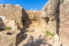 国王的坟茔,帕福斯,塞浦路斯 免版税库存照片