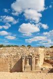 国王的坟茔,考古学博物馆在塞浦路斯的帕福斯 免版税库存图片