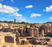 国王的坟茔,考古学博物馆在帕福斯市,塞浦路斯 库存照片