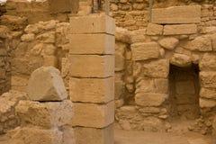 国王的宫殿Knossos废墟在克利特,希腊 免版税图库摄影