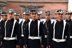 国王的尼泊尔皇家军队 图库摄影