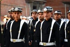 国王的尼泊尔皇家军队 库存图片