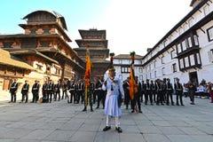 国王的尼泊尔皇家军队 免版税库存图片