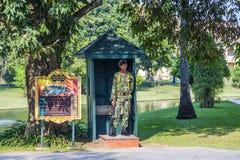 国王的战士在瓜儿豆的颐和园轰隆Pa守卫 库存图片