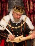 国王签署的羊皮纸 库存照片