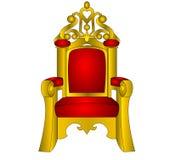 国王红色软的王位 免版税库存照片