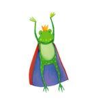 国王青蛙跳跃 免版税库存照片