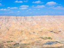 国王高速公路看法在旱谷Mujib河谷的  库存照片