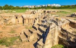国王,一块古老大墓地的坟茔在帕福斯 库存照片