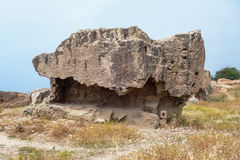 国王,帕福斯,塞浦路斯的坟茔 库存图片