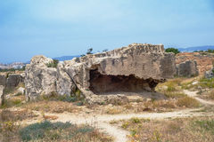 国王,帕福斯,塞浦路斯的坟茔 库存照片