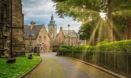 国王` s和女王/王后` s结在斯特灵,苏格兰 免版税库存照片