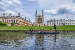 国王` s学院和国王` s学院教堂,后垂直哥特式英国建筑学,剑桥,英国 图库摄影