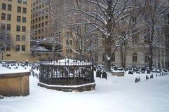 国王` s教堂坟场在波士顿, 2016年12月11日的美国 库存照片