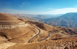 国王` s高速公路约旦 库存图片