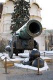 国王Cannon在克里姆林宫 三古炮炮弹 库存照片