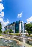 国立图书馆,布加勒斯特,罗马尼亚现代大厦  库存照片