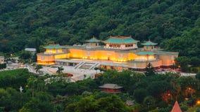 国立故宫博物院在晚上 免版税库存图片