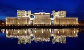 国防部在莫斯科 免版税库存图片