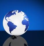 国际企业地球世界地图 库存例证