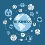 国际企业平的设计 免版税图库摄影